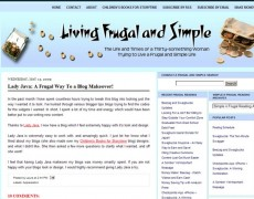 Blog Makeover : 41 – Living Frugal and Simple