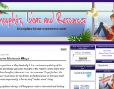 Blog Makeover : 51 – Thoughts, Ideas & Resources
