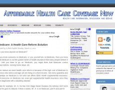 Blog Makeover #60: Affordable Health Care