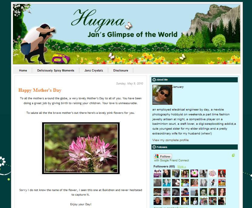 Blog Makeover #63: Hugna ~ Jan's Glimpse of the World