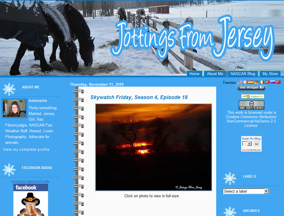 Blog Makeover #70: Fall/Winter Theme for Jottings