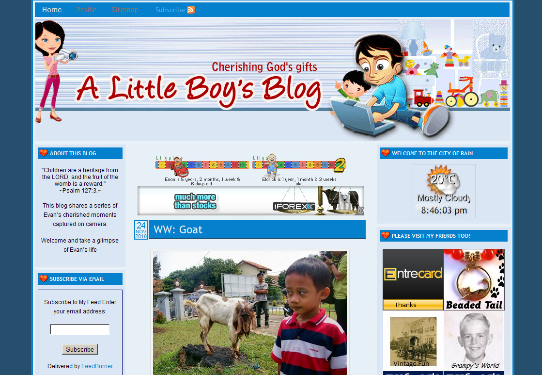 Little Boy Blog Old Look