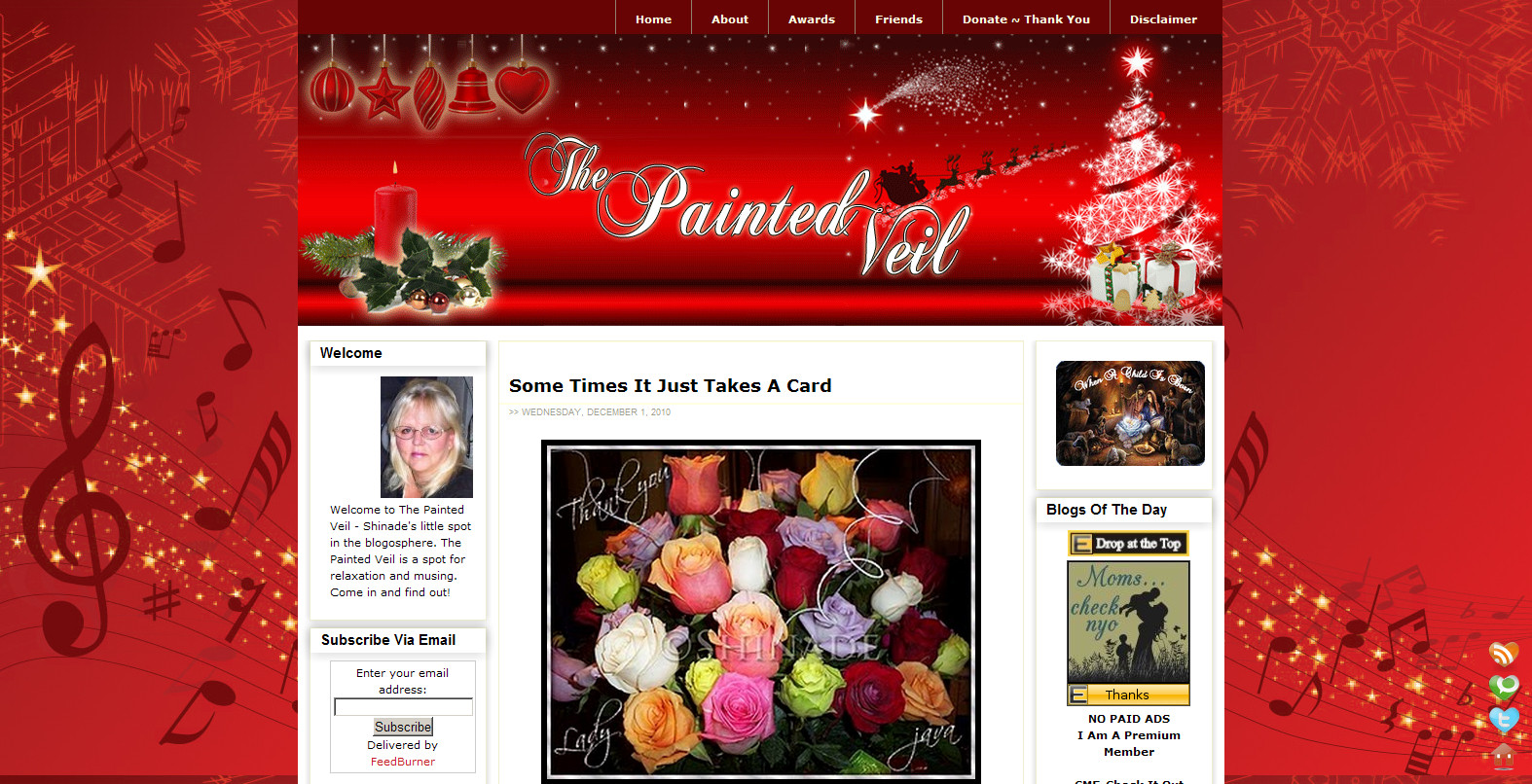 Blog Makeover #73: The Painted Veil (Xmas Edition)