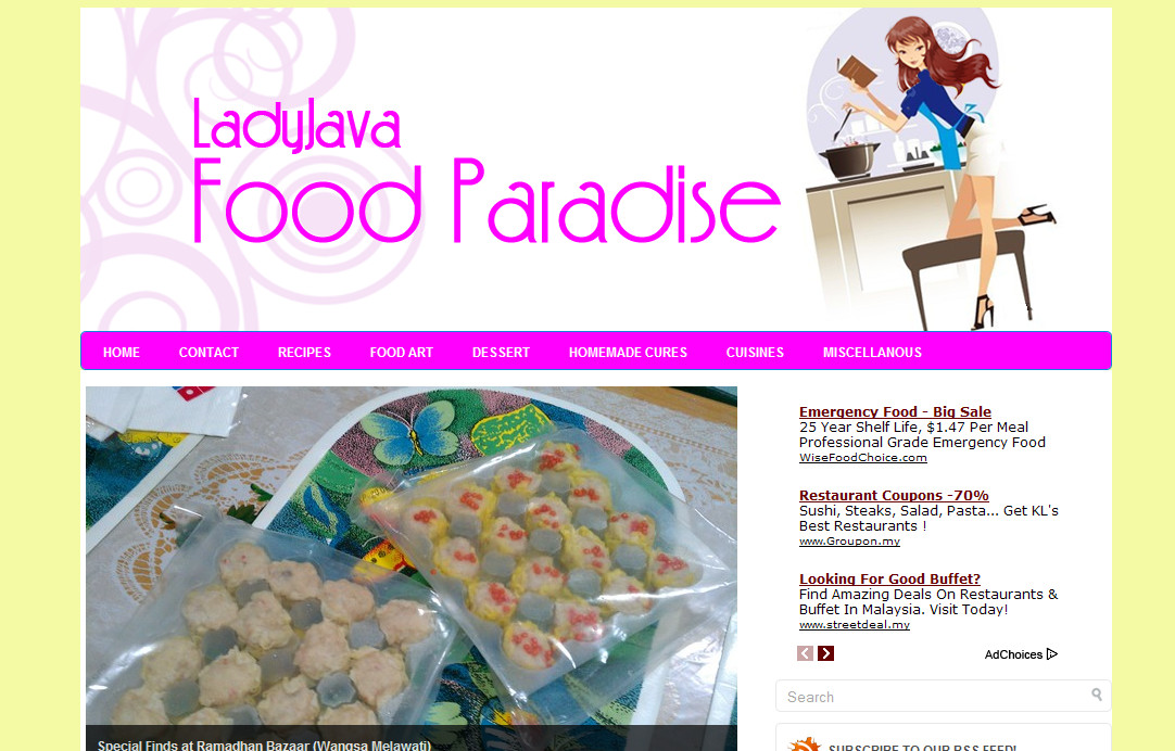 New Blog Makeover 81: LJ Food Paradise
