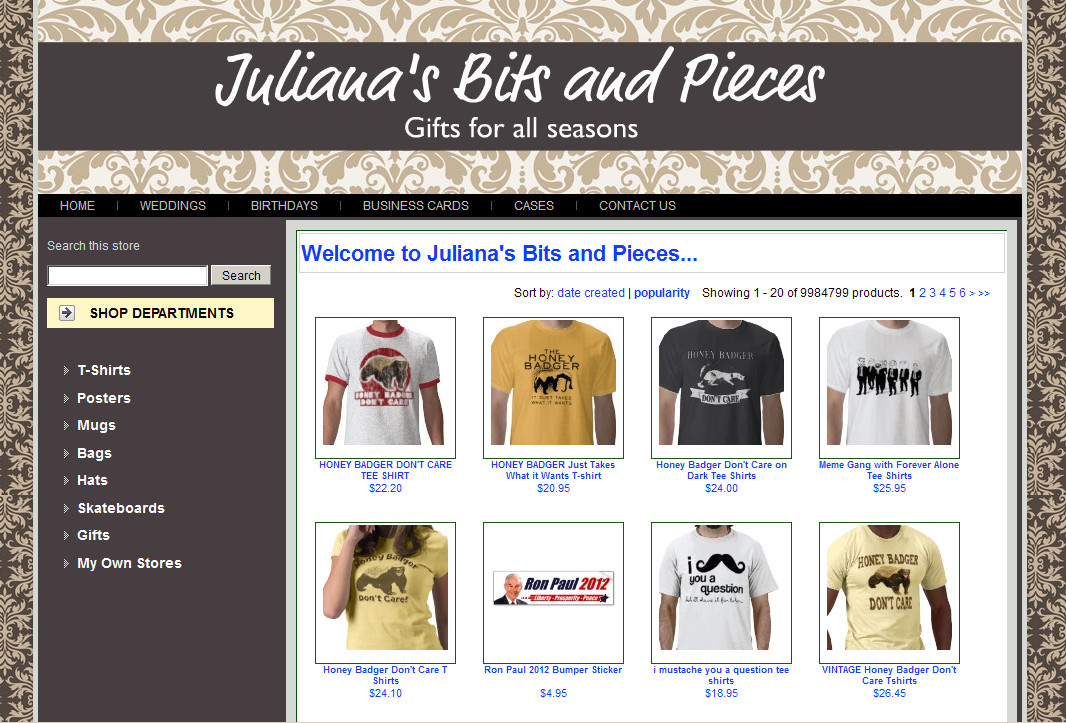 Juliana's Zazzle Custom Store