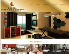 Website Design : Cedron Interior Concept